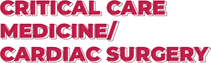 Critical Care Medicine / Cardiac Surgery